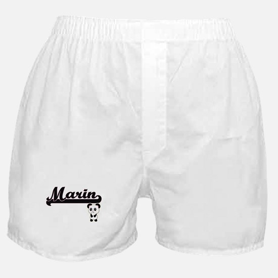 Marin Classic Retro Name Design with Boxer Shorts