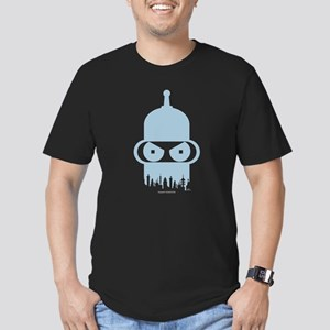 Futurama Bender City Men's Fitted T-Shirt (dark)