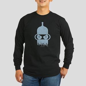 Futurama Bender City Long Sleeve Dark T-Shirt