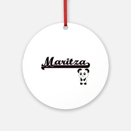 Maritza Classic Retro Name Design Ornament (Round)