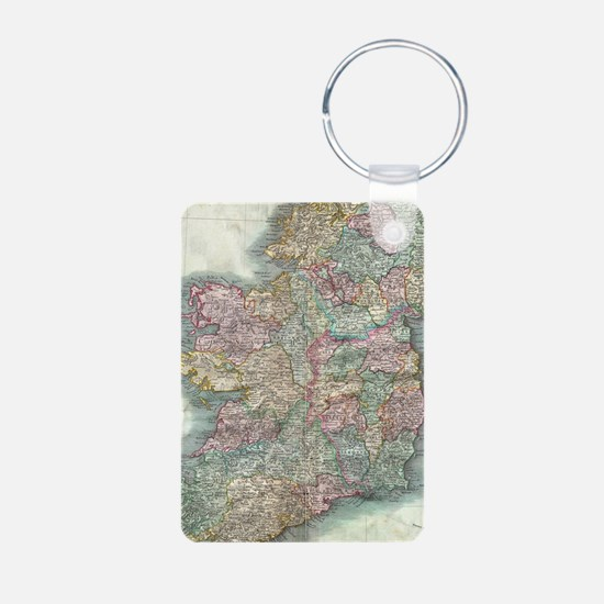 Vintage Map of Ireland (1799) Keychains
