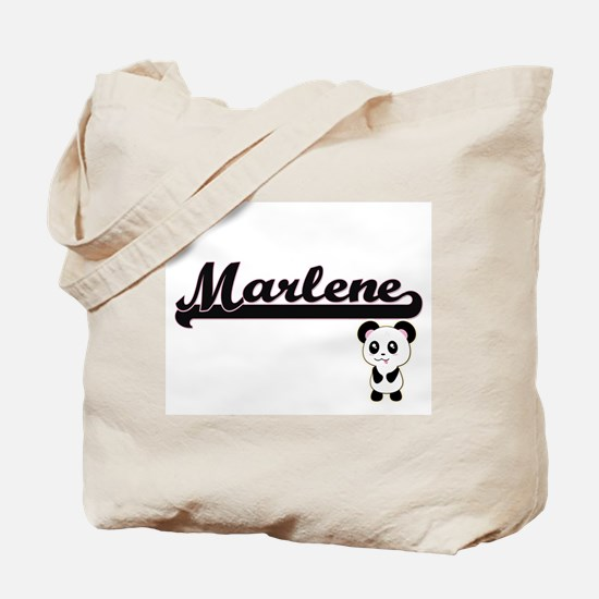 Marlene Classic Retro Name Design with Pa Tote Bag
