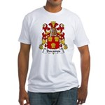 Descamps Family Crest  Fitted T-Shirt