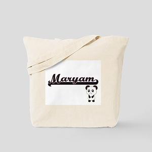 Maryam Classic Retro Name Design with Pan Tote Bag