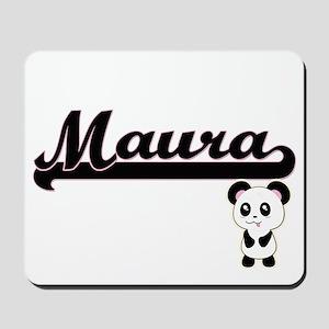 Maura Classic Retro Name Design with Pan Mousepad