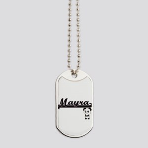 Mayra Classic Retro Name Design with Pand Dog Tags