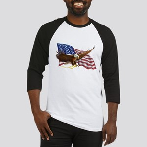 American Flag and Eagle Baseball Jersey