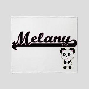 Melany Classic Retro Name Design wit Throw Blanket