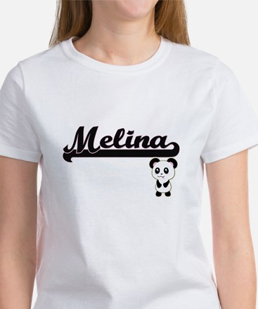 Melina Classic Retro Name Design with Pand T-Shirt