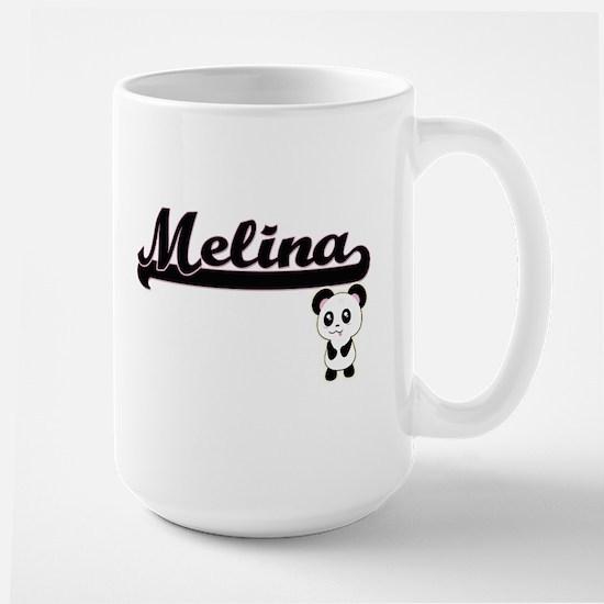 Melina Classic Retro Name Design with Panda Mugs