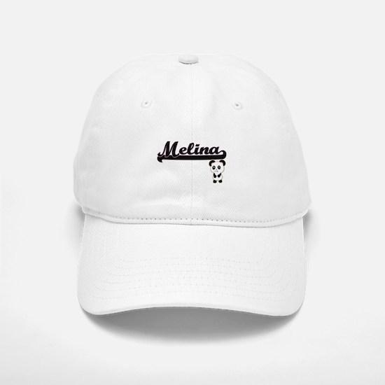 Melina Classic Retro Name Design with Panda Baseball Baseball Cap