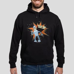 Futurama Bender Shiny Hoodie (dark)