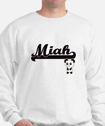 Miah Classic Retro Name Design with Pan Sweater