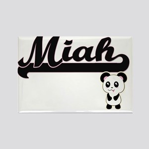 Miah Classic Retro Name Design with Panda Magnets