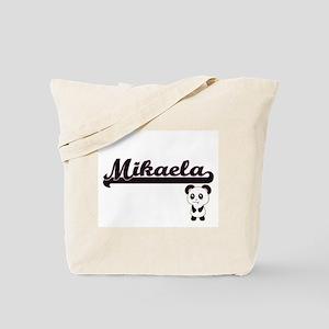 Mikaela Classic Retro Name Design with Pa Tote Bag