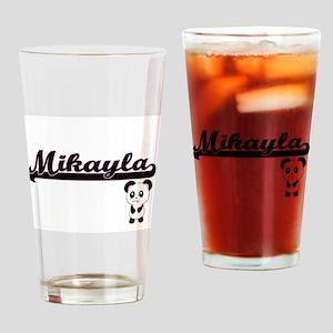 Mikayla Classic Retro Name Design w Drinking Glass