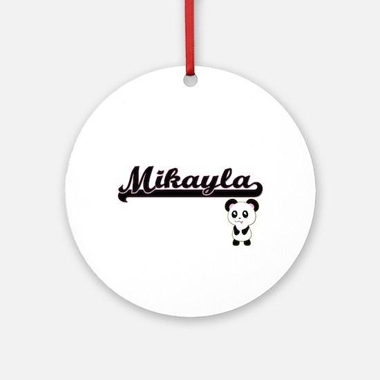Mikayla Classic Retro Name Design Ornament (Round)