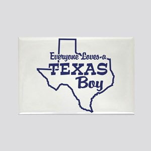 Texas Boy Rectangle Magnet