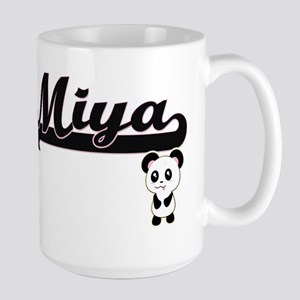 Miya Classic Retro Name Design with Panda Mugs