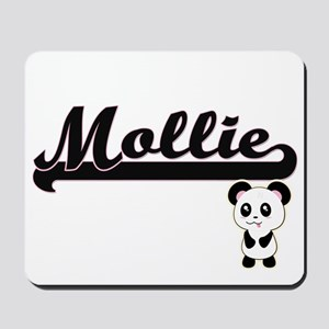 Mollie Classic Retro Name Design with Pa Mousepad