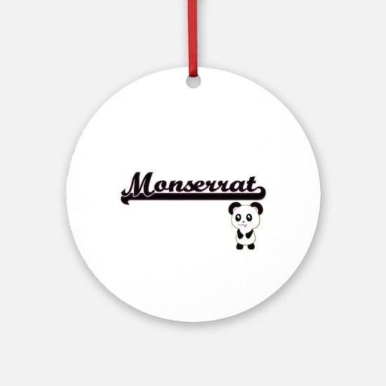 Monserrat Classic Retro Name Desi Ornament (Round)
