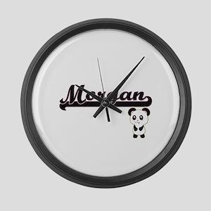 Morgan Classic Retro Name Design Large Wall Clock