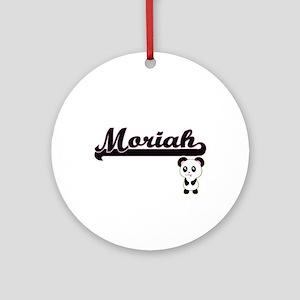 Moriah Classic Retro Name Design Ornament (Round)
