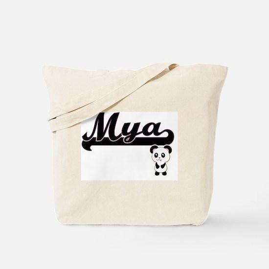 Mya Classic Retro Name Design with Panda Tote Bag