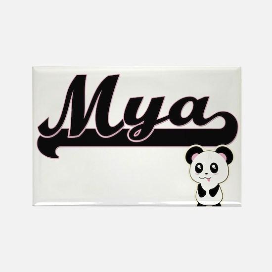 Mya Classic Retro Name Design with Panda Magnets