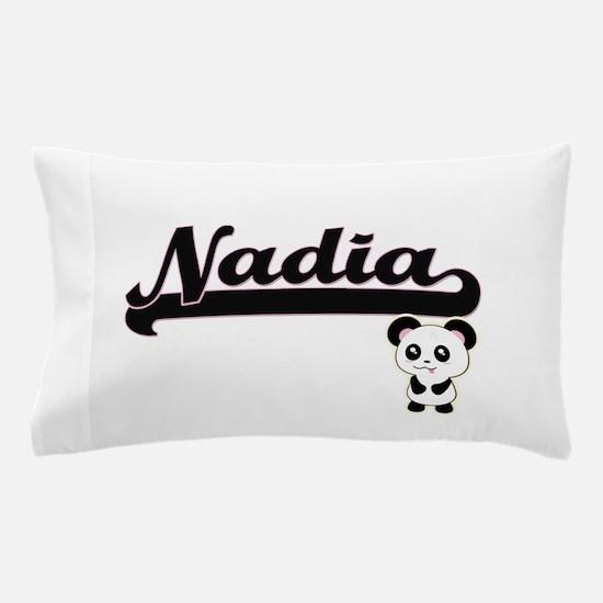 Nadia Classic Retro Name Design with P Pillow Case