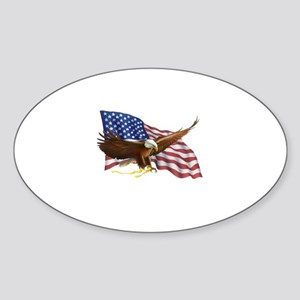 American Flag and Eagle Sticker
