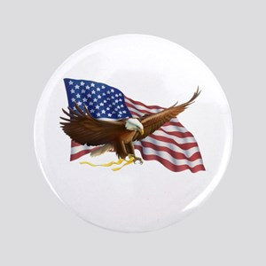 American Flag and Eagle Button