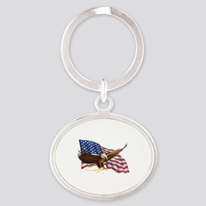 American Flag and Eagle Keychains
