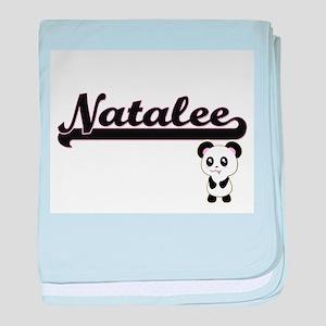 Natalee Classic Retro Name Design wit baby blanket