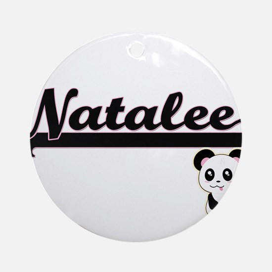 Natalee Classic Retro Name Design Ornament (Round)