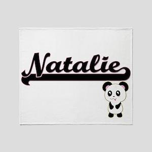 Natalie Classic Retro Name Design wi Throw Blanket