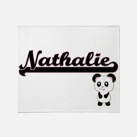 Nathalie Classic Retro Name Design w Throw Blanket