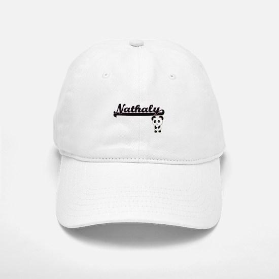 Nathaly Classic Retro Name Design with Panda Baseball Baseball Cap