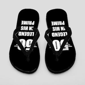 50th Birthday For Men Flip Flops
