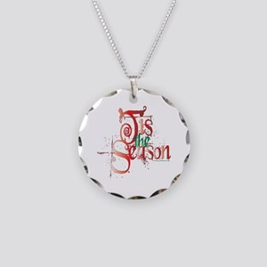 Tis the Season Necklace Circle Charm