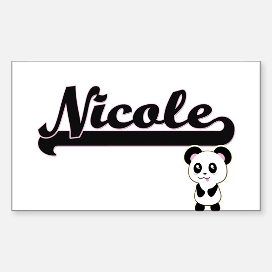Nicole Classic Retro Name Design with Pand Decal