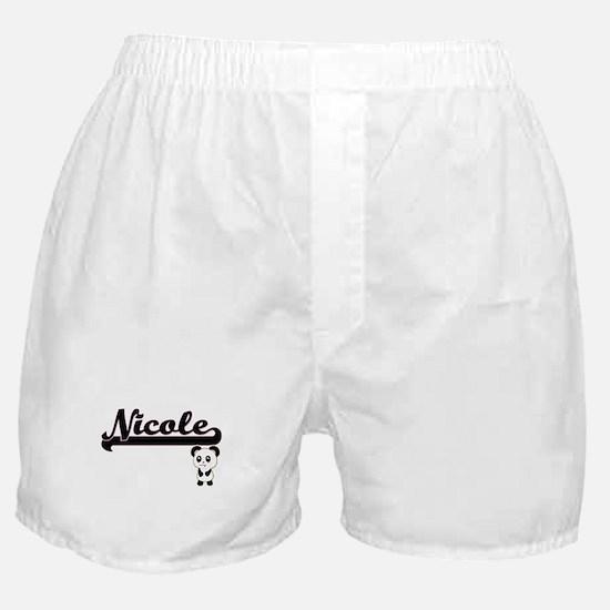 Nicole Classic Retro Name Design with Boxer Shorts