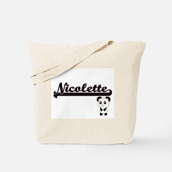 Nicolette Classic Retro Name Design with Tote Bag