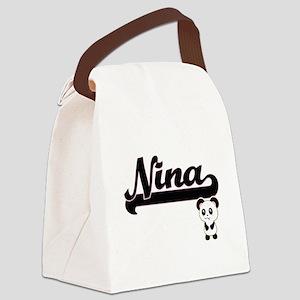 Nina Classic Retro Name Design wi Canvas Lunch Bag