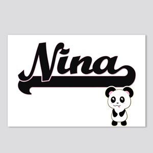 Nina Classic Retro Name D Postcards (Package of 8)