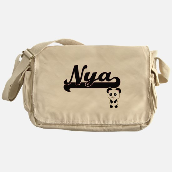 Nya Classic Retro Name Design with P Messenger Bag
