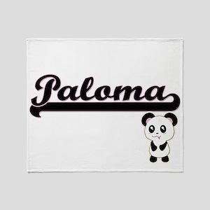 Paloma Classic Retro Name Design wit Throw Blanket