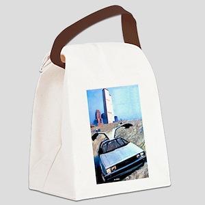 Delorean DMC 12 World Trade Cente Canvas Lunch Bag