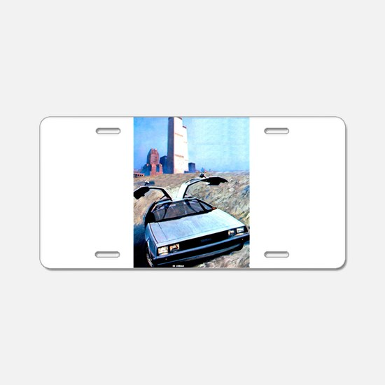 Delorean DMC 12 World Trade Aluminum License Plate