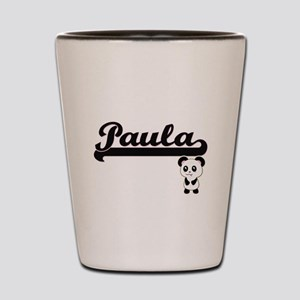 Paula Classic Retro Name Design with Pa Shot Glass